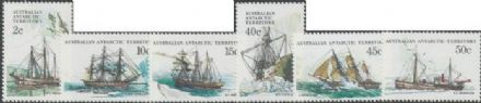 AAT 09/09/1981 Ships definitives part 3 set of 6 (SG38, 40, 42, 48, 49 & 50)